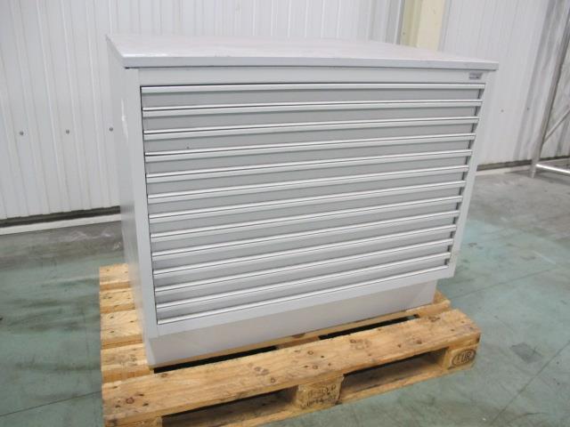Metalen Ladenkast Voor Gereedschap.Mega Stahl Gebruikte Ladenkast 12 Lades 1000x700x850