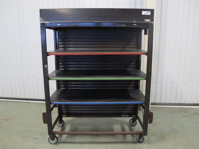 Kast met legplanken op wielen memax online veiling van metaal