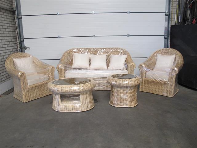 Tuin Loungeset Veiling.Lounge Set Handgemaakt Van Rotan Nieuw Memax Online Veiling Van